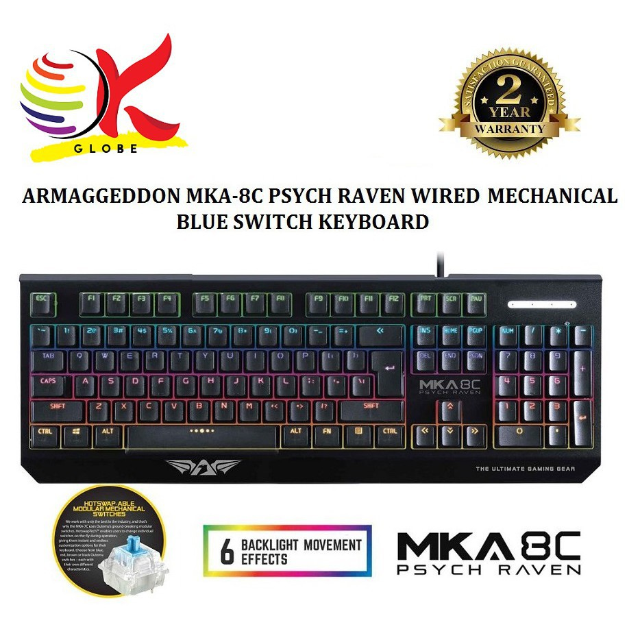 ARMAGGEDDON BACKLIT MECHANIC GAMING KEYBOARD PSYCH RAVENAL