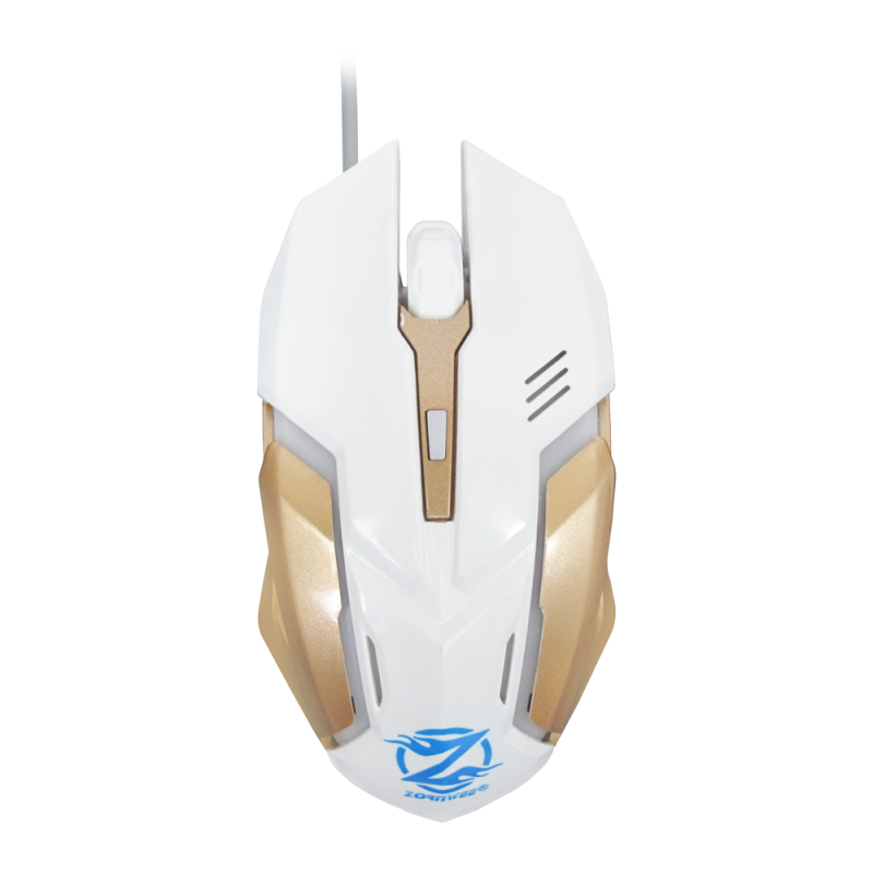 ZORNWEE LEGEND OF HEROES COLORFUL BACKLIT GAMING MOUSE WHITE