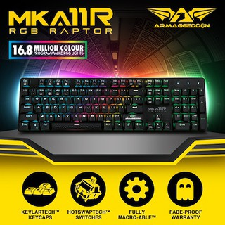 ARMAGGEDDON MECHANICAL RGB KEYBOARD MKA-11R B.BLUE EDITION 2