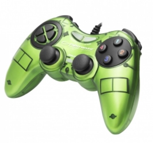 ESPERANZA GAMEPAD PC USB FIGHTER GREEN
