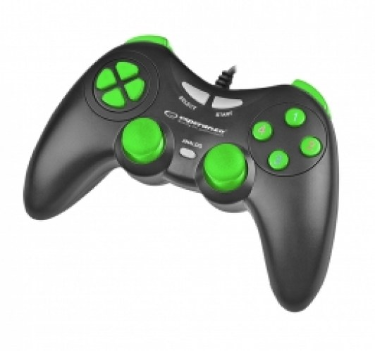 ESPERANZA GAMEPAD PC USB FIGHTER BLACK-GREEN