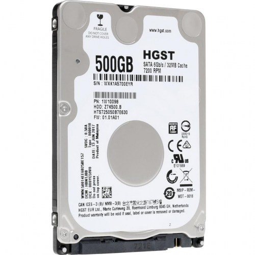 HDD HITACHI, 500GB, 7200rpm, 32MB, SATA 6 Gbit/s, HTS725050B7E630 / 1W10098