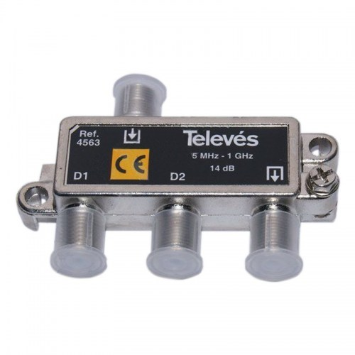 Tap-Off 2 ways 14dB Televes 4563